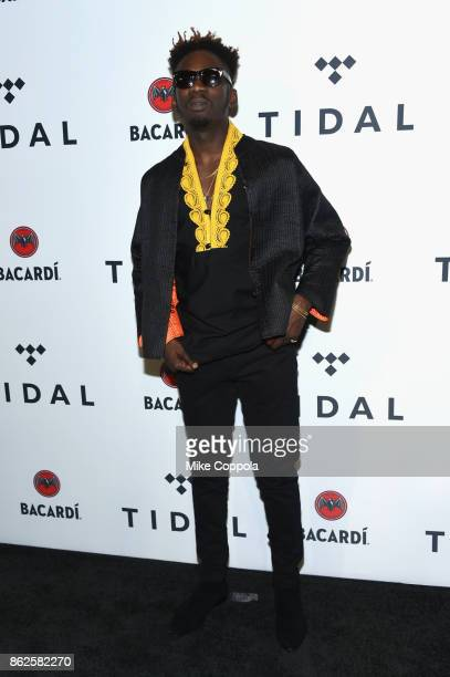 Mr Eazi attends TIDAL X Brooklyn at Barclays Center of Brooklyn on October 17 2017 in New York City