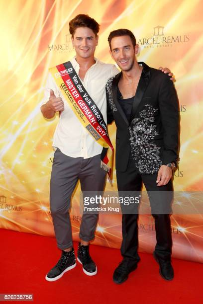 Mr Germany 2017 Dominik Bruntner and Marcel Remus attend the Remus Lifestyle Night on August 3 2017 in Palma de Mallorca Spain