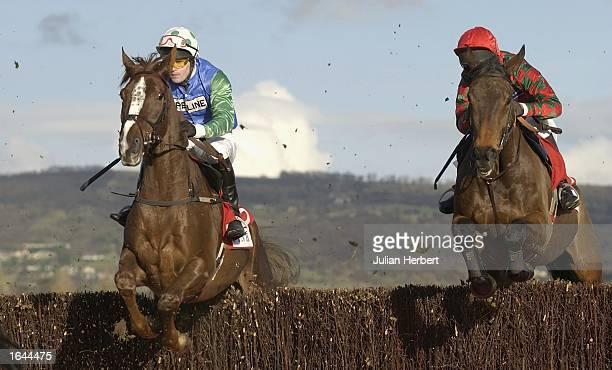 Mr Gordon Elliott and Iris Bleu land The Thomas Pink Amateur Riders Steeple Chase Race run at Cheltenham Racecourse on November 30 2002 in Cheltenham