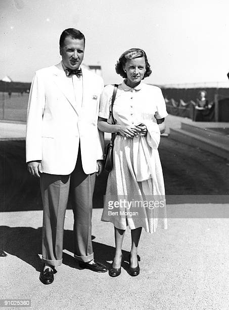 Mr Henry Ford II and his wife the former Anne McDonnell in Southampton NY 1941