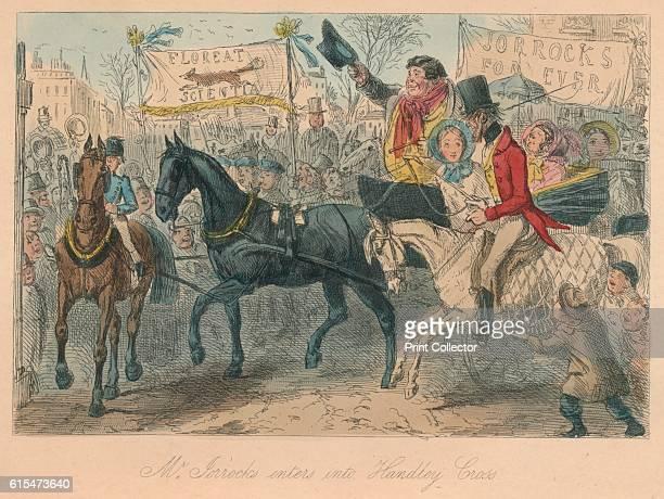 Mr Jorrocks enters into Handley Cross' 1854 From Handley Cross or Mr Jorrocks's Hunt by Robert Smith Surtees [Bradbury and Evans London 1854] Artist...