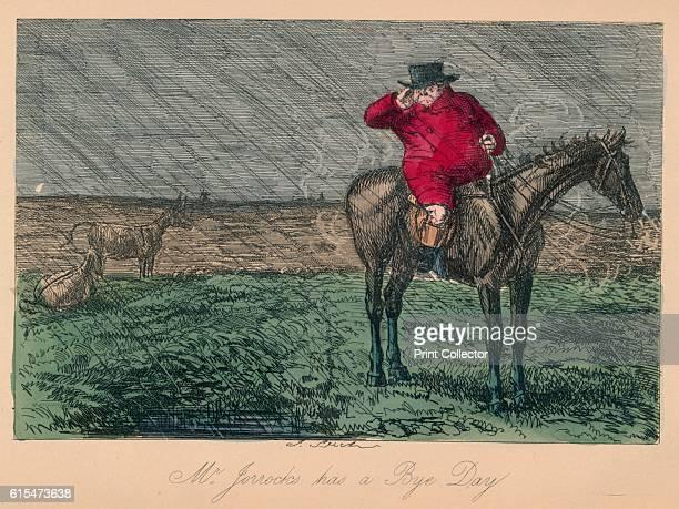 Mr Jorrocks has a Bye Day' 1854 From Handley Cross or Mr Jorrocks's Hunt by Robert Smith Surtees [Bradbury and Evans London 1854] Artist John Leech