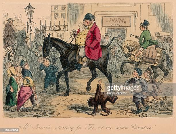 Mr Jorrocks starting for The cut me down Countries' 1854 From Handley Cross or Mr Jorrocks's Hunt by Robert Smith Surtees [Bradbury and Evans London...