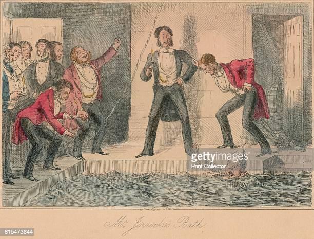 Mr Jorrocks's Bath' 1854 From Handley Cross or Mr Jorrocks's Hunt by Robert Smith Surtees [Bradbury and Evans London 1854] Artist John Leech