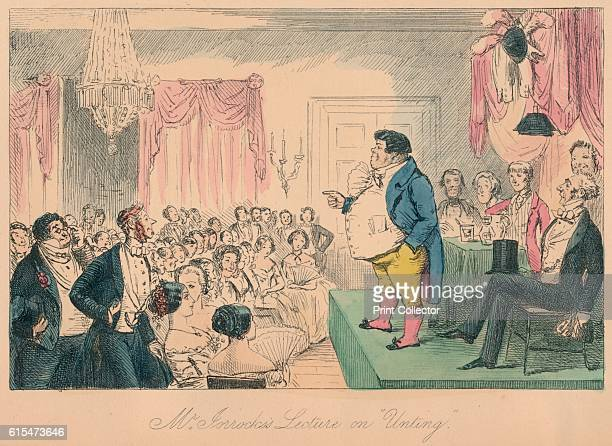 Mr Jorrocks's Lecture on Unting 1854 From Handley Cross or Mr Jorrocks's Hunt by Robert Smith Surtees [Bradbury and Evans London 1854] Artist John...