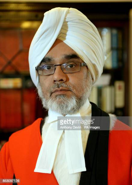 Mr Justice Singh in his chambers at the Old Bailey London before he sentencing of Nkosiyapha Kunene and his wife Virginia for the manslaughter of...