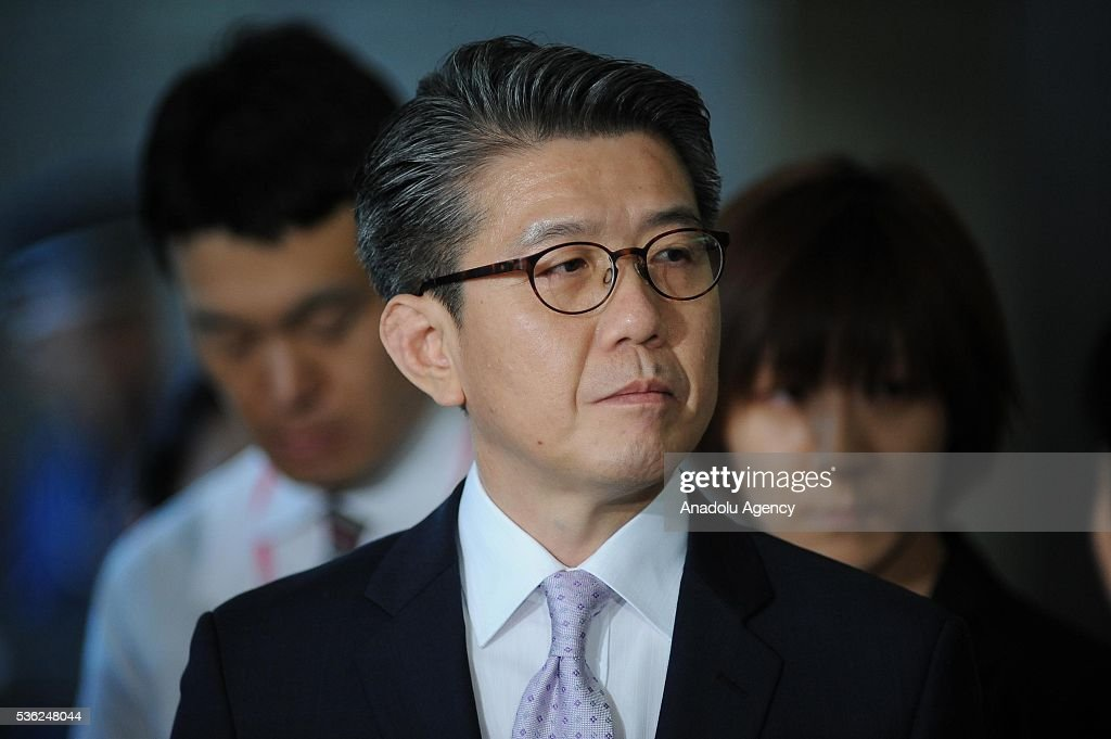 Mr. Kim Hong-kyun , Special Representative for Korean Peninsula Peace and Security Affairs addresses to journalists at the Japan Ministry of Foreign Affairs after the Japan-U.S.-ROK Heads of Delegation Meeting of the Six Party talks in Tokyo, Japan, on June 1, 2016.