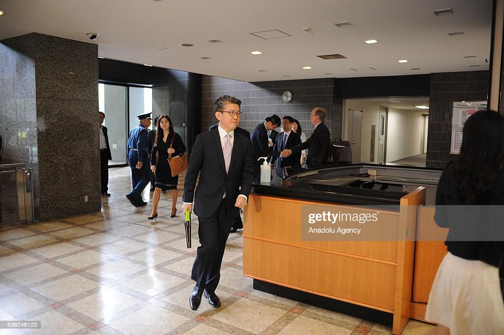 Mr. Kim Hong-kyun , Special Representative for Korean Peninsula Peace and Security Affairs arrives at the Japan Ministery of Foreign Affairs to attend the Japan-U.S.-ROK Heads of Delegation Meeting of the Six Party talks in Tokyo, Japan, on June 1, 2016.