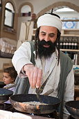 Mr. Lachuch, the Yemeni pancake man of the Old City