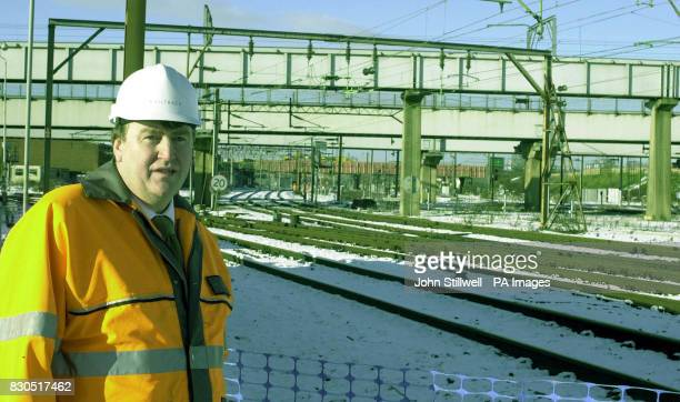 Mr Lindsey Vamplew head of delivery for Railtrack's West Coast Route Modernisation project stands at the site of modernisation works at Willesden...