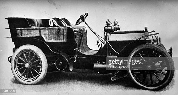 Mr Lionel Rothschild's 3540 HP Daimler Mercedes convertible car Prior to 1901 'Mercedes' had been used on the Continent under the name of 'Daimler'