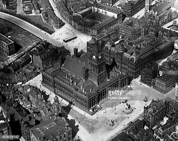Mr Lloyd George's visit to Leeds Photo shows the Town Hall where Mr Lloyd George will on Saturday receive the Freedom of the City