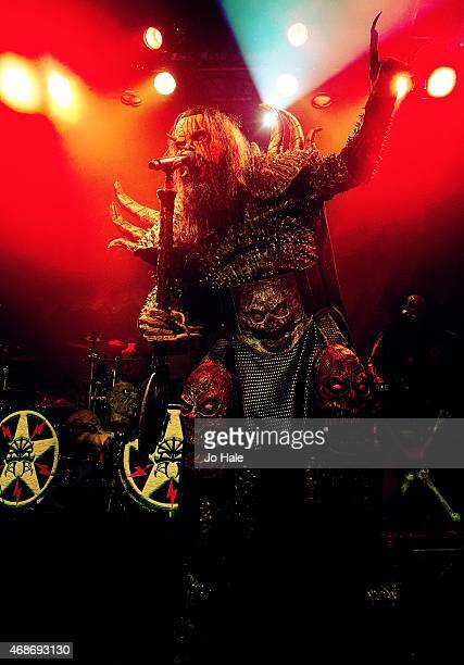Mr Lordi of Lordi performs on stage at O2 Academy Islington on April 5 2015 in London United Kingdom