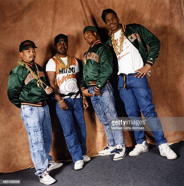 Mr Mixx Fresh Kid Ice Brother Marquis Luke Skyywalker of the rap group '2 Live Crew' pose for a portrait session on January 30 1989