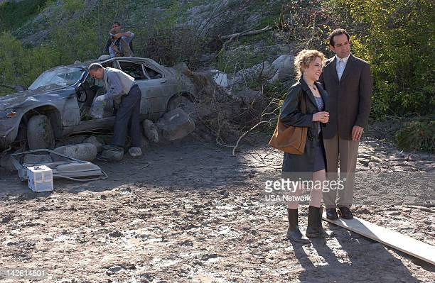 MONK 'Mr Monk and the Psychic ' Episode 3 Pictured Bitty Schram as Sharona Fleming Tony Shalhoub as Adrian Monk