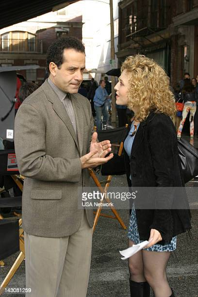 MONK 'Mr Monk and the TV Star' Episode 12 Pictured Tony Shalhoub as Adrian Monk Bitty Schram as Sharona Fleming