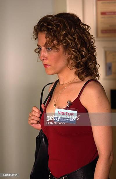 MONK 'Mr Monk Goes to Asylum' Episode Pictured Bitty Schram as Sharona Fleming
