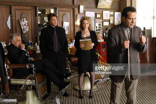 MONK 'Mr Monk Meets the Godfather' Episode 2 Pictured Philip Baker Hall as Salvatore Lucarelli Devon Gummersall as Phil Bedard Bitty Schram as...