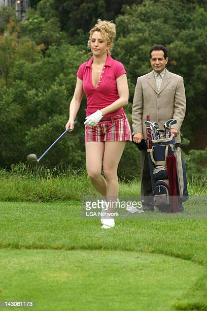 MONK 'Mr Monk Meets the Playboy' Episode 8 Pictured Bitty Schram as Sharona Fleming Tony Shalhoub as Adrian Monk