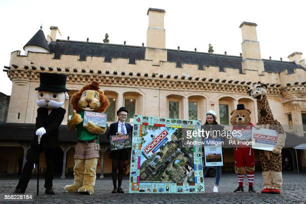 Mr Monopoly Blair Drummond Safari Park mascot Safari Sam 13 year old Mary Peck Lucy Henderson Stirling Albion football club mascot Beano and Blair...