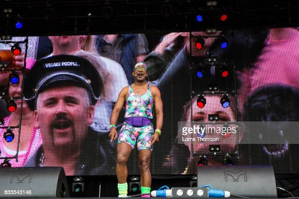 Mr Motivator warms up the audience at Rewind Festival on August 19 2017 in HenleyonThames England