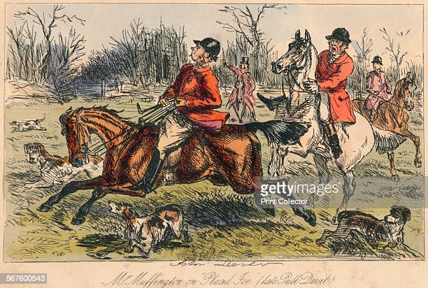 'Mr Muffington on Placid Joe ' 1865 From Mr Facey Romford's Hounds written by Robert Smith Surtees illustrated by John Leech and HK Phiz Browne...