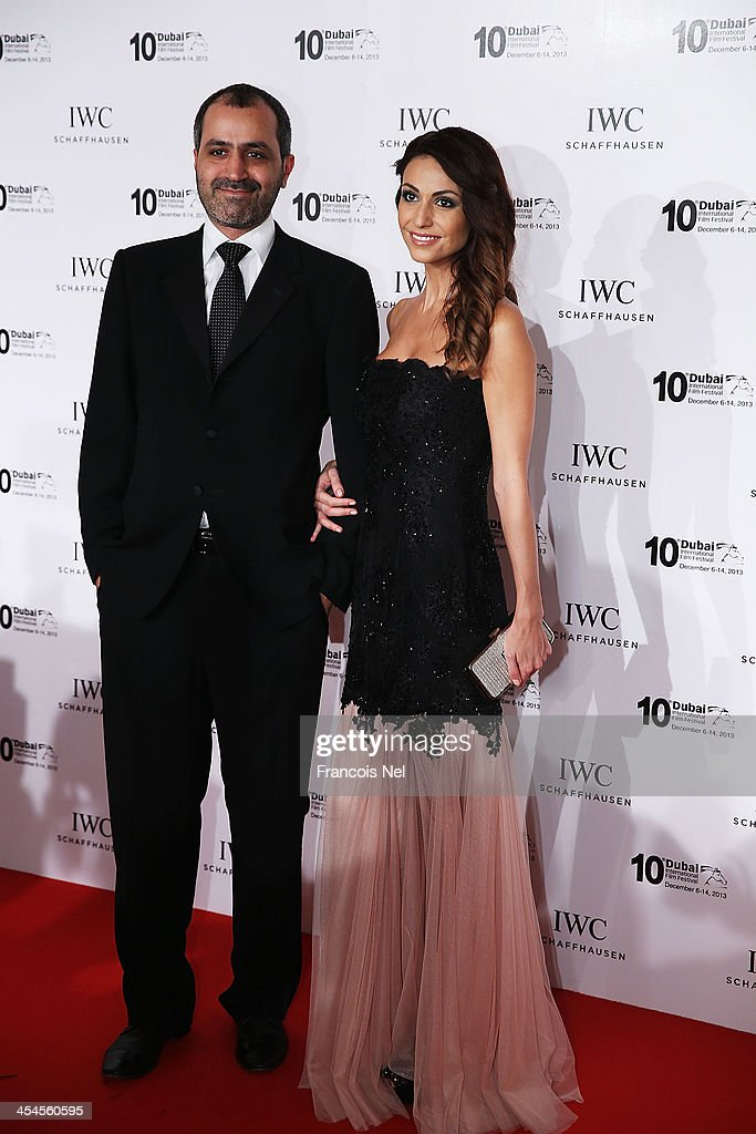 Mr Nasser Al Shaali and his wife attend the IWC Schaffhausen For The Love Of Cinema IWC Filmmakers Award 2013 at One And Only Royal Mirage on December 7, 2013 in Dubai, United Arab Emirates.