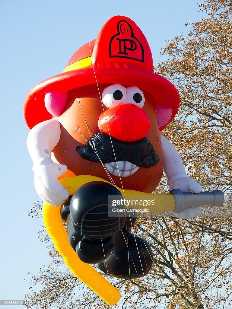 Mr. Potatohead Fireman balloon at the 93rd annual Dunkin' Donuts Thanksgiving Day Parade on November 22, 2012 in Philadelphia, Pennsylvania.