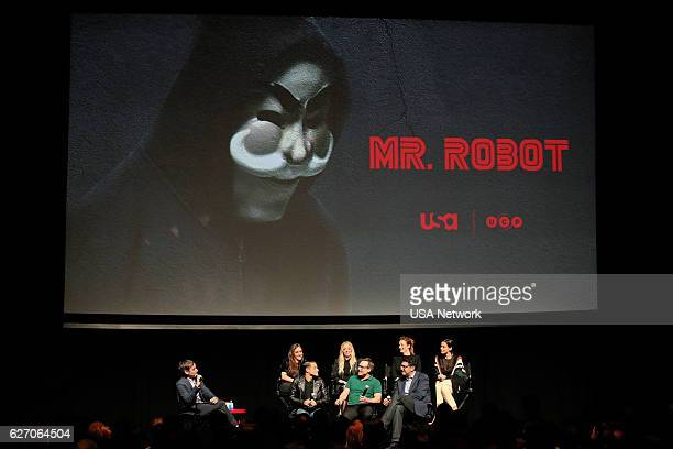 MR ROBOT 'Mr Robot SAG Panel' Pictured Andy Greenwald Carly Chaikin Rami Malek Portia Doubleday Christian Slater Grace Gummer Sam Esmail Creator 'Mr...
