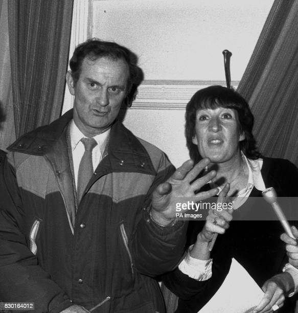 Mr Ronald Smith and his solicitor Ruth Bundy at a press conference after the 'Open Verdict' was returned by the inquest jury at Leeds Coronor's Court...
