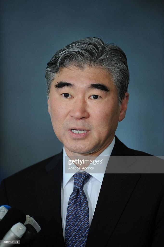 Mr. Sung Kim, Special Representative for North Korea Policy addresses to journalists at the Japan Ministry of Foreign Affairs after the Japan-U.S.-ROK Heads of Delegation Meeting of the Six Party talks in Tokyo, Japan, on June 1, 2016.