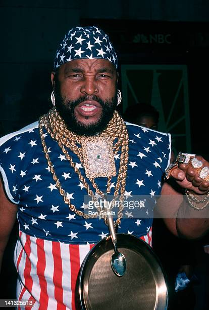Mr T at the Taping NBC's 75th Anniversary Special Rockefeller Center New York City
