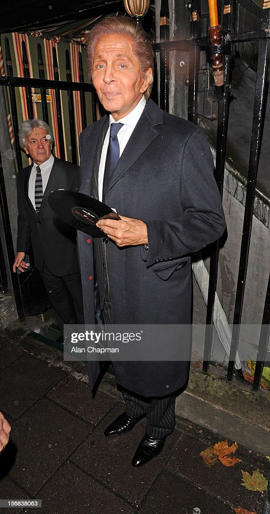 Mr Valentino sighting at Annabels on November 22, 2012 in London, England.