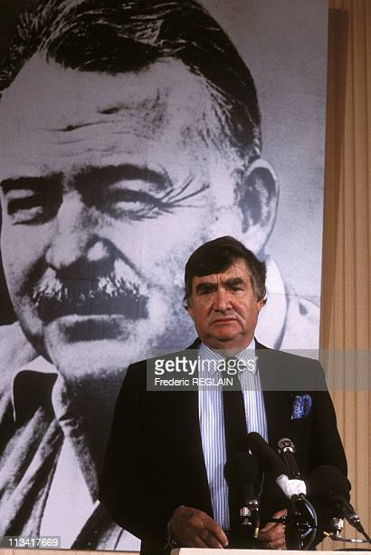 Mr Vargas Llosa 'Hemingway Prize' On March 29th 1985 In ParisFrance