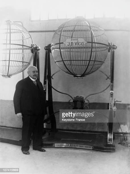 Mr Vico Creator Of The National Lottery Machine In Paris On 1933