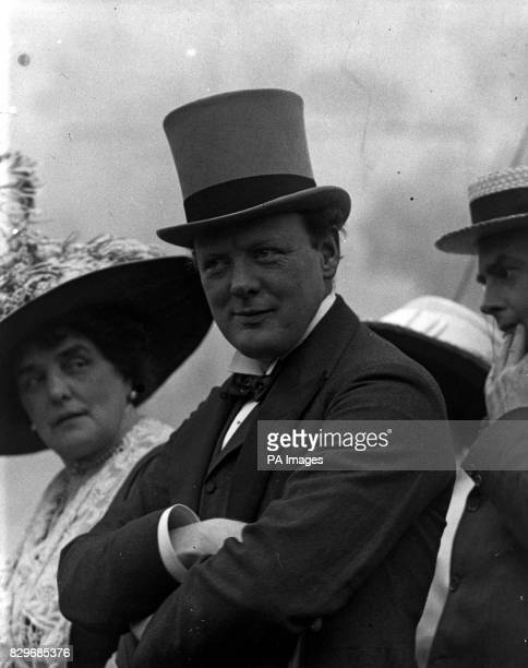 Mr Winston Churchill with his mother Mrs George CornwallisWest at an Earl's Court Exhibition commemorating the Armada
