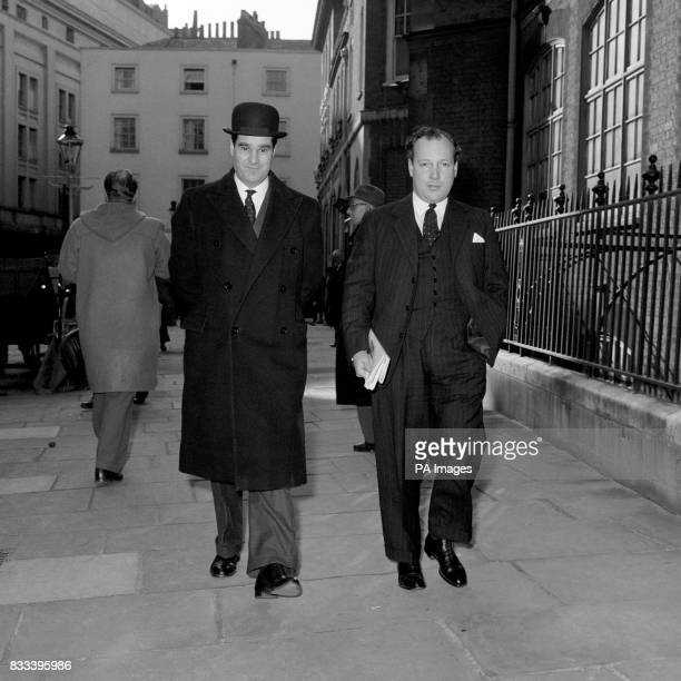 Mr WMF Hudson counsel appearing for Gordon Arnold Lonsdale company director appearing at Bow Street Magistrates Court on an Official Secrets Act...