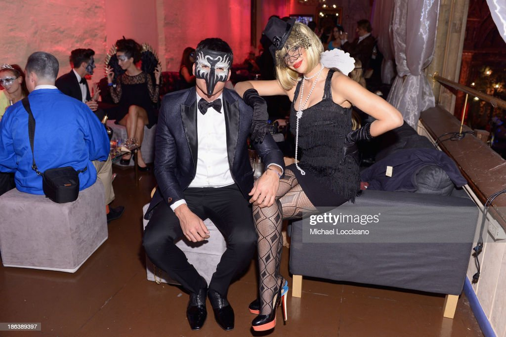 Mr World 2012 Francisco Escobar and Singer Jackie Cruz attend the 4th Annual UNICEF Masquerade Ball at Angel Orensanz Foundation on October 30, 2013 in New York City.