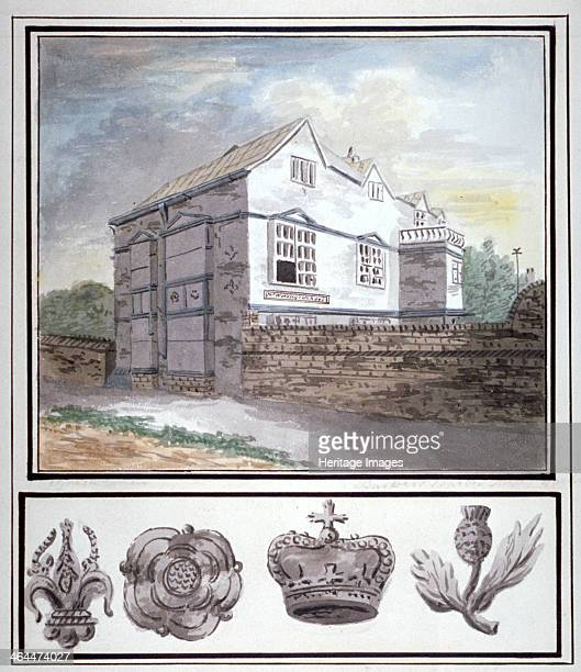 Mr Worsley's school Hackney London c1790 The school was housed in the building known as Barber's Barn on the east side of Mare Street thought to have...