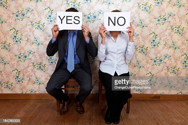 Mr Yes and Mrs No