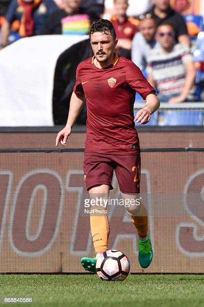 Mário Rui of AS Roma during the italian Serie A match between Roma and Atalanta at the Olympic Stadium Rome Italy on 15 April 2017