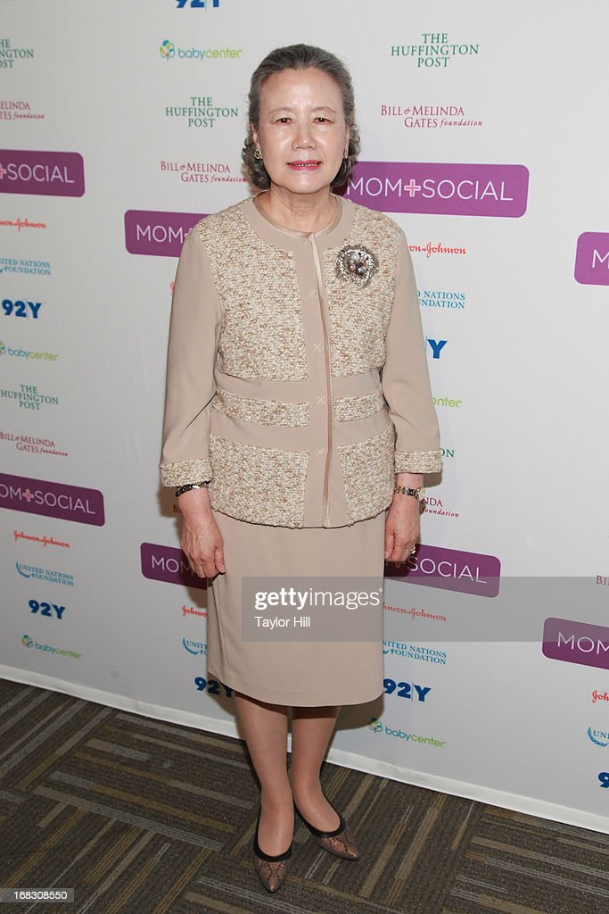 Mrs. Ban Soon-taek, wife of the Secretary General of the United Nations, attends the Mom + Social Event at the 92Y Tribeca on May 8, 2013 in New York City.