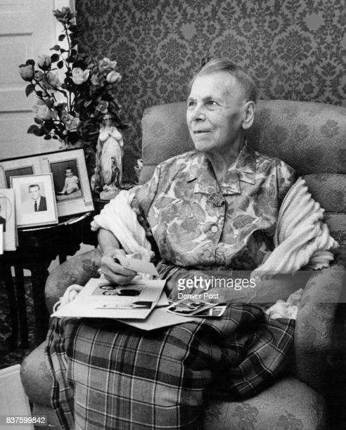 Mrs Barbara Hergenreter Is Sure To Be Remembered On Mother's Day The Aurora woman sits among souvenirs and photos of her 150 living descendants...