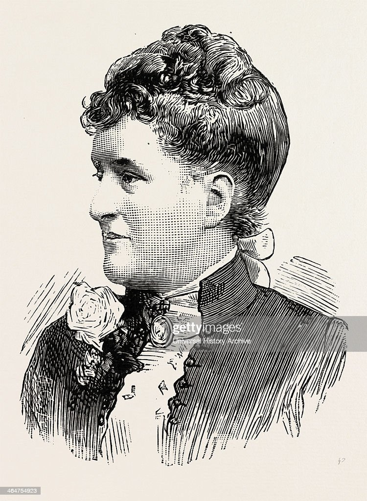 Mrs. Barkly, Wife Of Mr. A.c.s. Barkly, C.m.g., F.r.g.s. Ex-governor Of Heligoland, German, Danish, British, UK, 1890 Engraving.