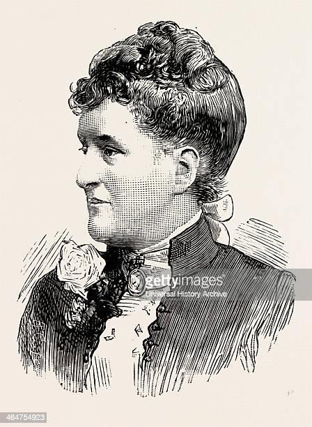 Mrs Barkly Wife Of Mr Acs Barkly Cmg Frgs Exgovernor Of Heligoland German Danish British UK 1890 Engraving