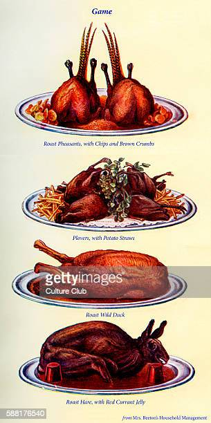 Roast pheasants with chips and brown crumbs Plovers with potato straws Roast wild duck Roast hare with red currant jelly New edition of the...