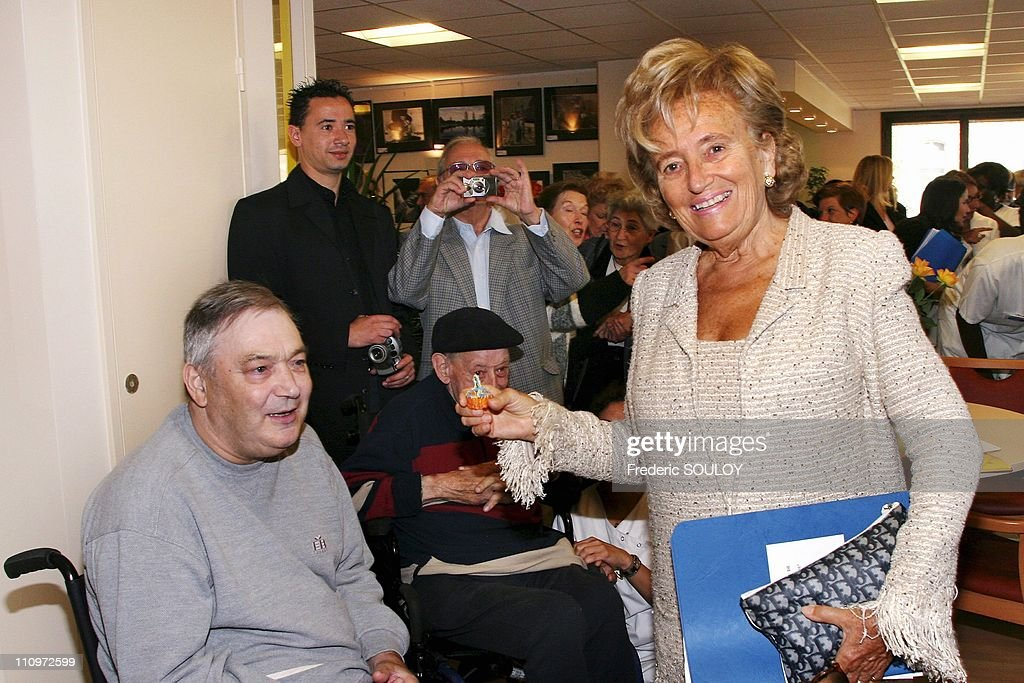 Mrs Bernadette Chirac launches 'More Life 2005' operation at Paul Brousse Hospital in Villejuif France on September 27th 2005 Mrs Bernadette Chirac...