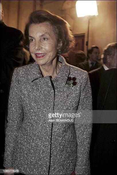 Mrs Bettencourt in Paris France on December 16 2004