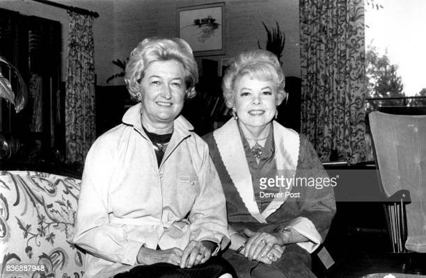Mrs Bob Magness left and Mrs Lloyd Powers plan to attend the Oct 1519 anitque auction sponsored by the Women's Library Association at the University...