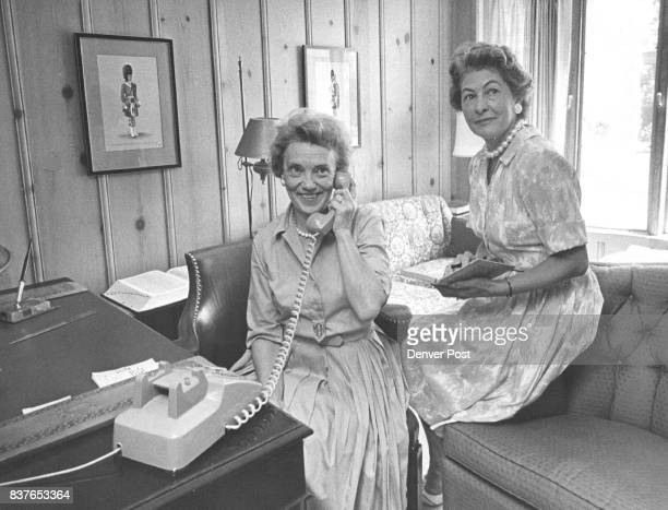 Mrs Braxton Ross left and her cochairman MrsGeorge Hahn will head a telephone campaign to sell season tickets to the Denver Symphony Credit Denver...